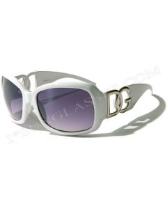DG Juniors Oversized Fashion Sunglasses 26163 White/Smoke-Gradient S