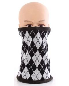 3 in 1 Fleece Neck Warmer Black-White