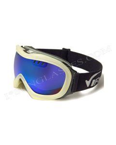 Virage Aerial Ski Goggles Pearl/Blue-Revo ML