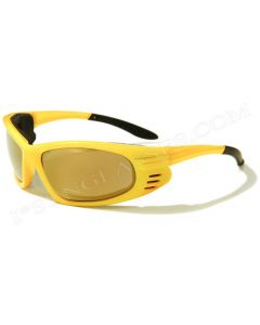 Virage Sports Padded Sunglasses VM30 Yellow/Mirror M