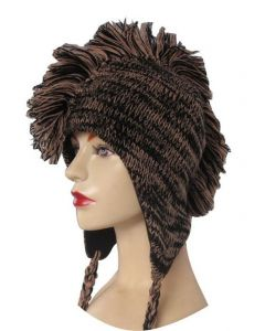 Mohican Nepalese Ski Hat - Brown/Black (As Worn)