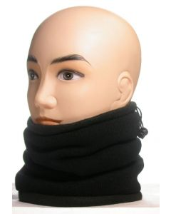 3 in 1 Fleece Neck Warmer - Black (As Worn)