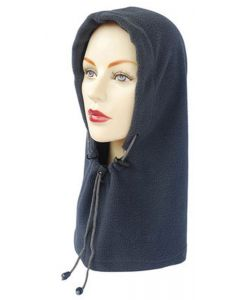 Ladies Fleece Snood Loose Fit Balaclava in Dark Grey