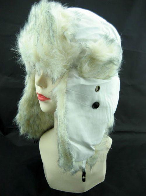 Ladies Trapper Hat in White