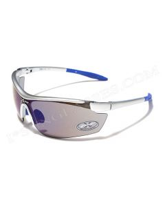 X-Loop Shield Sunglasses 8X3535 Silver/Blue-Revo Mirror ML