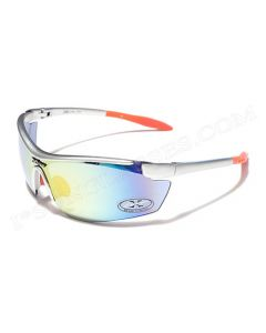 X-Loop Shield Sunglasses 8X3535 Silver/Fire-Revo Mirror ML