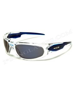 X-Loop Sports Sunglasses 8X2090 Crystal-Blue/Blue-Revo Mirror ML