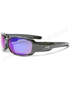 X-Loop Squared Sunglasses XL2133 Black/Blue-Revo ML