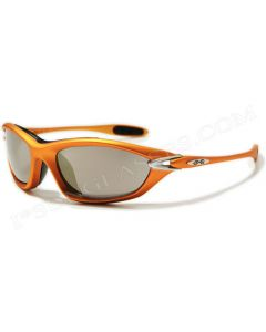 X-Loop Wraparound Sports Sunglasses 8X2015 Gold/Mirror ML