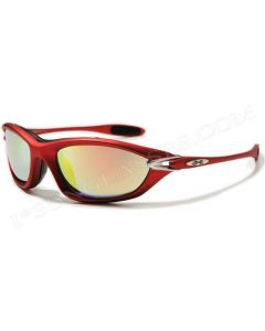 X-Loop Wraparound Sports Sunglasses 8X2015 Red/Revo ML