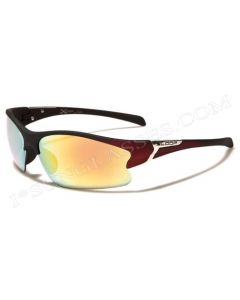 X-Loop Half Frame Sunglasses 8X2329 Matt-Black-Red/Fire-Revo Mirror ML